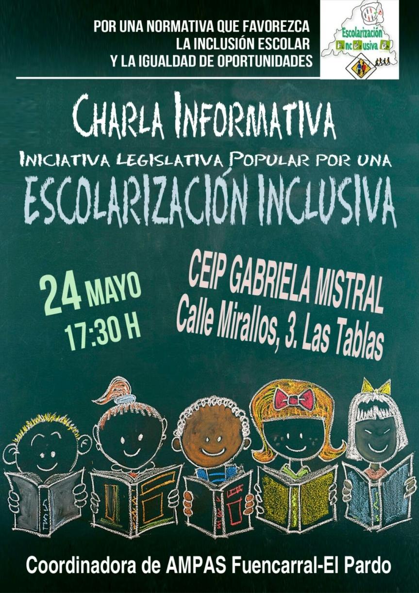 Charla informativa en apoyo de la ILP por la Escolarización Inclusiva
